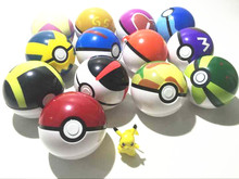 100pcs 7CM Poke Ball Figures ABS Anime PokeBall Toys Super Master Pokeball Action Figures by EMS
