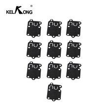 KELKONG 10 قطعة Carburetor Carb طقم تصليح طوقا الحجاب الحاجز ل بريغز & ستراتون 270026 272538 272538S 272637 4157 5021