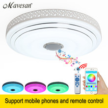 2018 RGB LED ceiling Lights Dimmable with Bluetooth & Music 90-260V modern 36W Led led plafond for 5-15Square meters kids room(China)