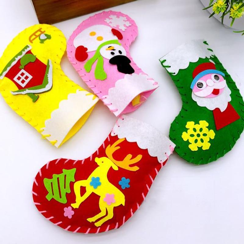 KöStlich 1 Stück Pädagogisches Weihnachten Strümpfe Handmade Materialien Pack Spielzeug Diy Weihnachten Handwerk Spielzeug Für Kindergarten Vorschule Kinder Kid