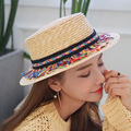 1 Pcs 2016 New Fashion Tassel Braid Adult Children Fedoras Parent-child Caps Spring Summer Ourdoor Beach Straw Hats 2 Colors