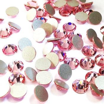 a8ccb334c59e Todo el tamaño Rosa Luz DIY no Hotfix strass Flatback cristal uñas  decoración arte parche ropa de accesorio de la joyería