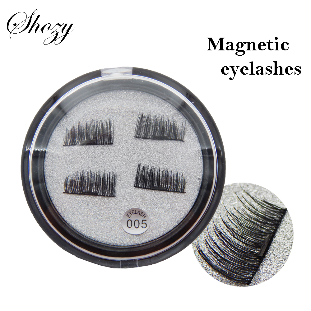 Shozy 4 Pcs/Pair Convenient Magnetic Fake Eyelashes Extention Eye Beauty Makeup Accessories Soft Hair False Eyelashes-ECT005