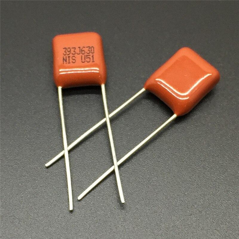 10//100PCS CBB NISSEI MMX 393J 630V 0.039uF 39nF P7.5 Metallized Film Capacitor