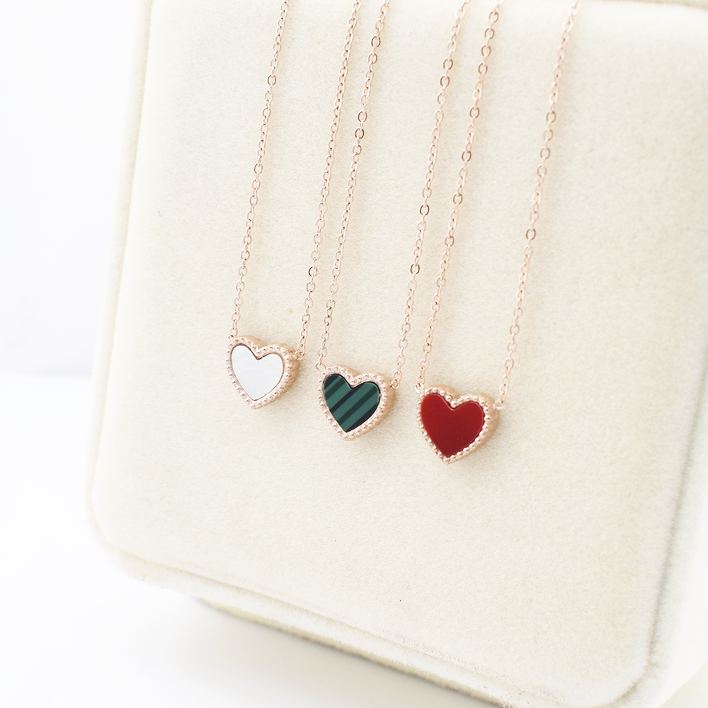 charm silver girl heart necklace wholesale star statement from yizhe stone no moon design plain simple sterling gold women product
