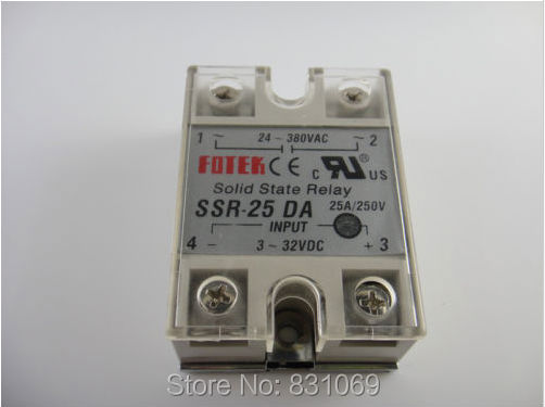 цена на 10Pieces/Lot Solid State Relay SSR-25DA 25A 3-32VDC/24-380VAC Brand New