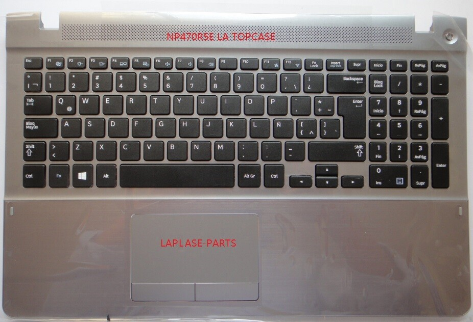 New Genuine Latin Spanish Teclado for Samsung NP370R5E NP450R5E NP470R5E NP510R5E with palmrest BA75 04651K BA59