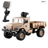 EBOYU FY001A Wi-Fi ГРУЗОВИК 2,4 ГГц 1/16 4WD внедорожных RC грузовик с передней свет Wi-Fi FPV 0.3MP Камера матовый военный грузовик RTR