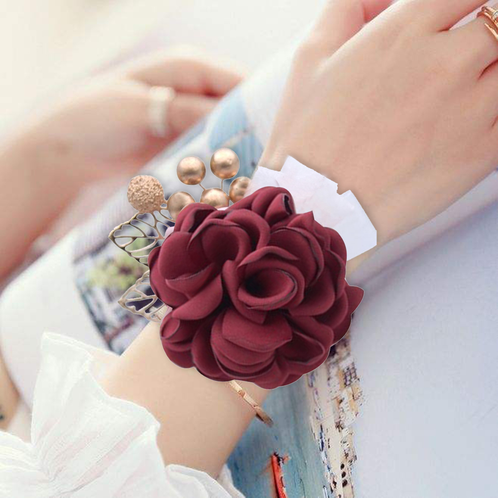 Wrist Corsage Bridesmaid Bracelet Sisters Hand Flowers Artificial Bride Flowers For Wedding Party Mariage Decor Bridal Prom