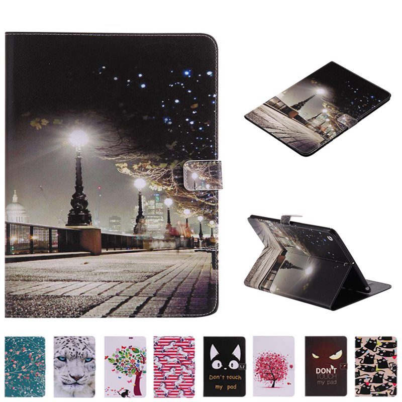 3D Beautiful City Painting PU Leather Case For Samsung Galaxy Tab 4 7.0 SM-T230 T235 T231 Tablet Protective Case+Film+Pen