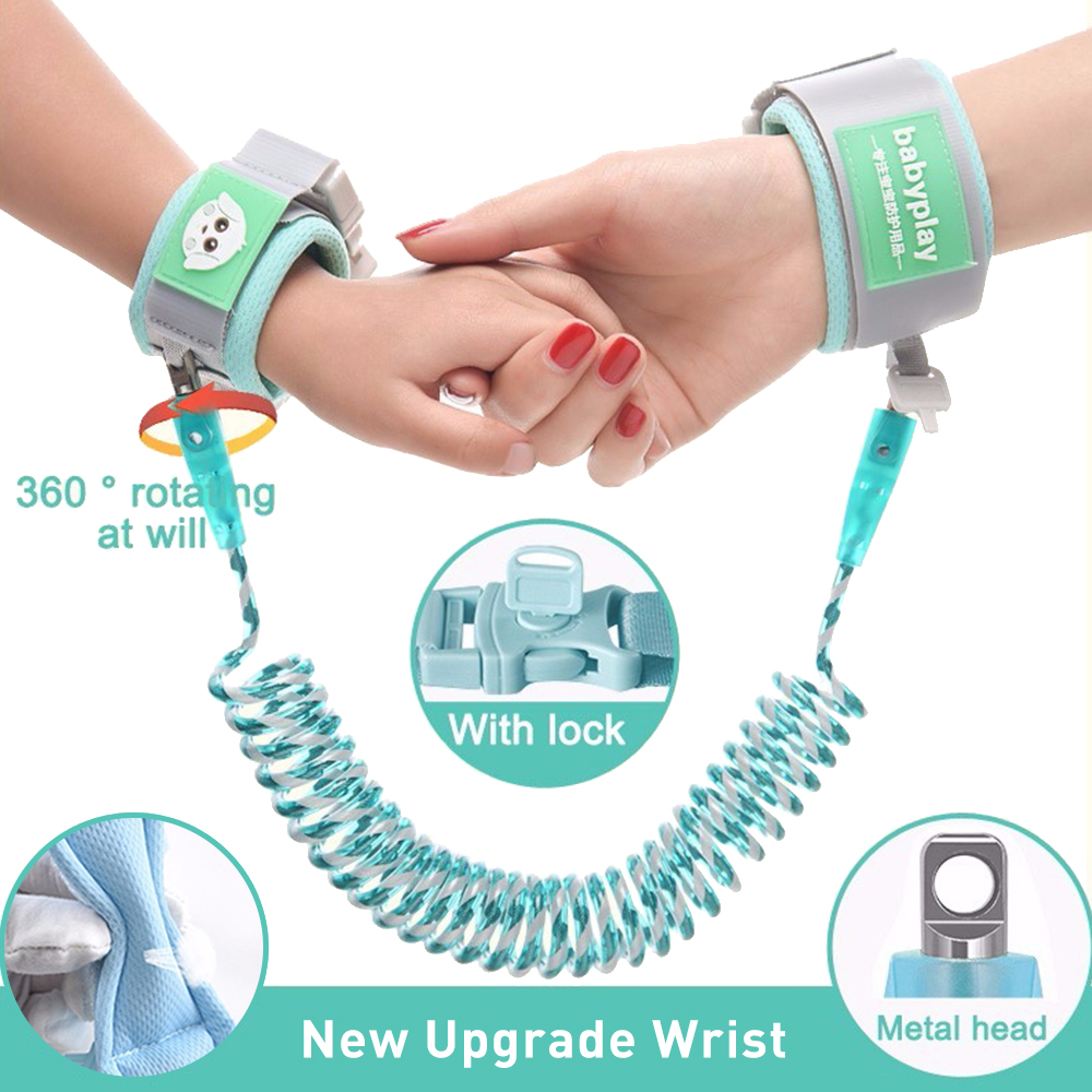 2.5M Baby Anti Lost Wrist Link 1-10 Years Safety Harness Strap Rope Leash For Toddlers Soft Cotton Hand Upgrade Kids Wrist Belt