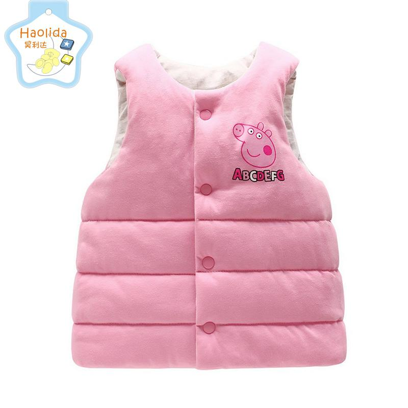 Kids Vest Girl Boy Winter Warm Thicken Vests Baby Down Cotton Coat Waistcoat Zipper Hooded Jackets For Girls Boys Children Coats