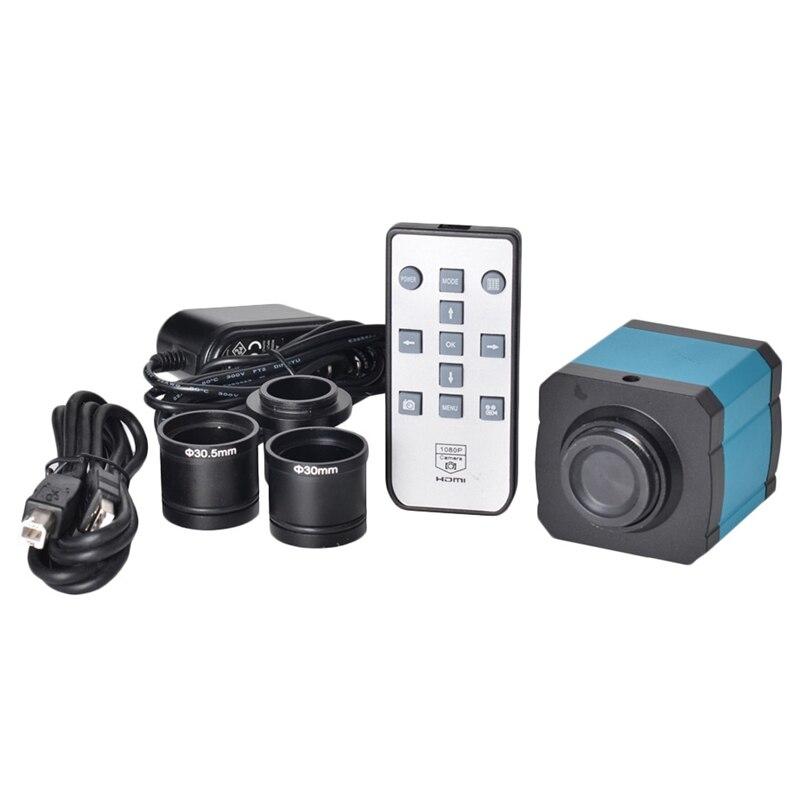 Câmera estereofônica do microscópio da inspeção do adaptador da lente para o solderin de pbc câmera da indústria de 14mp 1080 p hdmi usb com ccd c monte