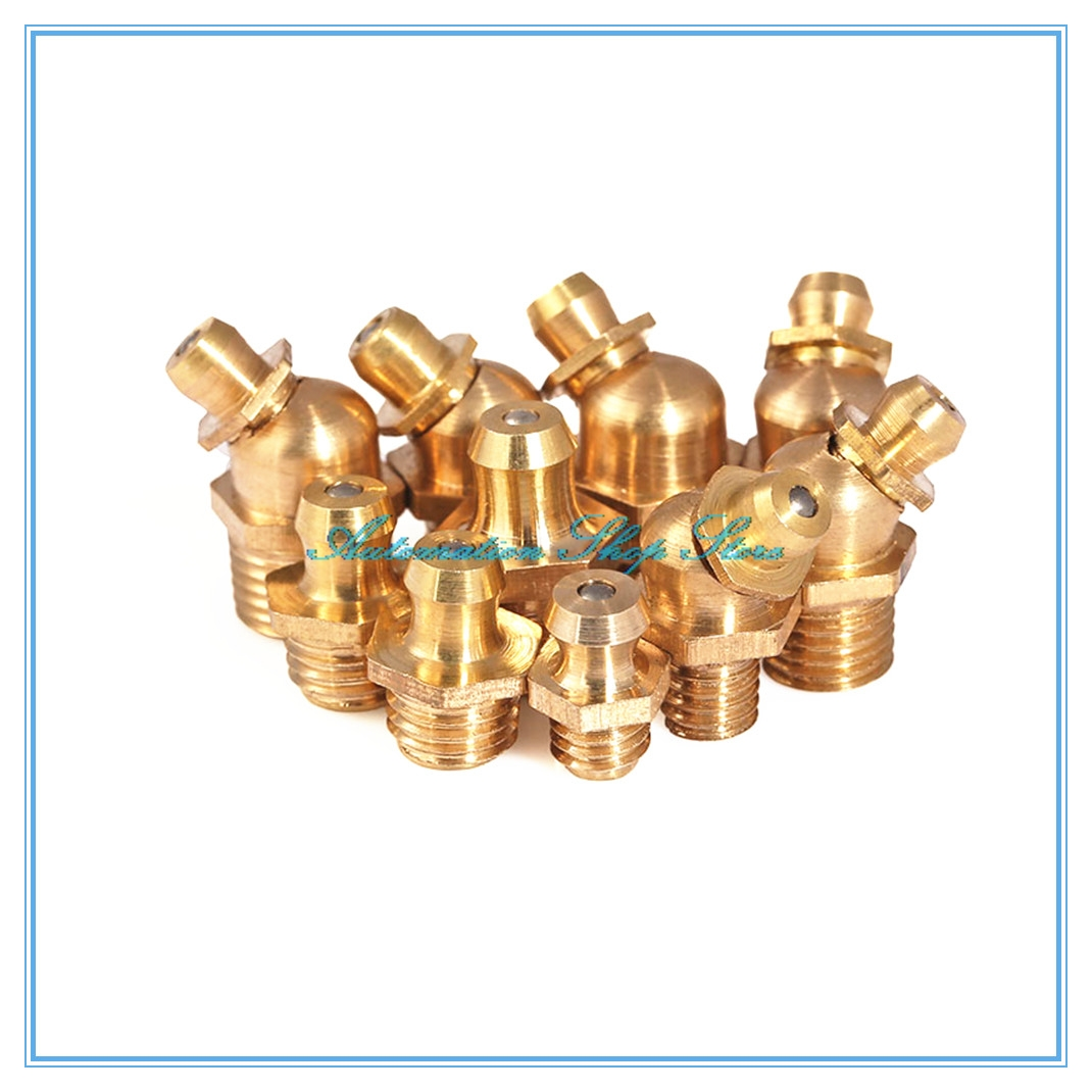 Pure Copper Grease Nipple General Accessories Oil Mouth Grease Nipple Butter Gun Fittings