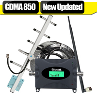 Full Set LCD Display 65dB Gain 3G CDMA GSM 850mhz Cell Phone Signal Booster Mobile Cellular
