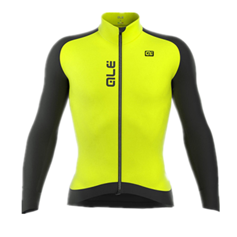 NewTeam ALE Cycling Jersey Long Sleeve Winter Thermal Fleece Bicycle Ale Cycling Jersey /Super Warm Winter Moutain Bike Clothing