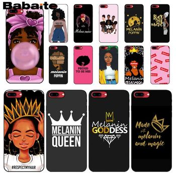 Babaite Melanin Poppin Aba girl DIY Printing Drawing Phone Case cover Shell for iPhone 6S 6plus 7 7plus 8 8Plus X Xs MAX 5 5S XR image