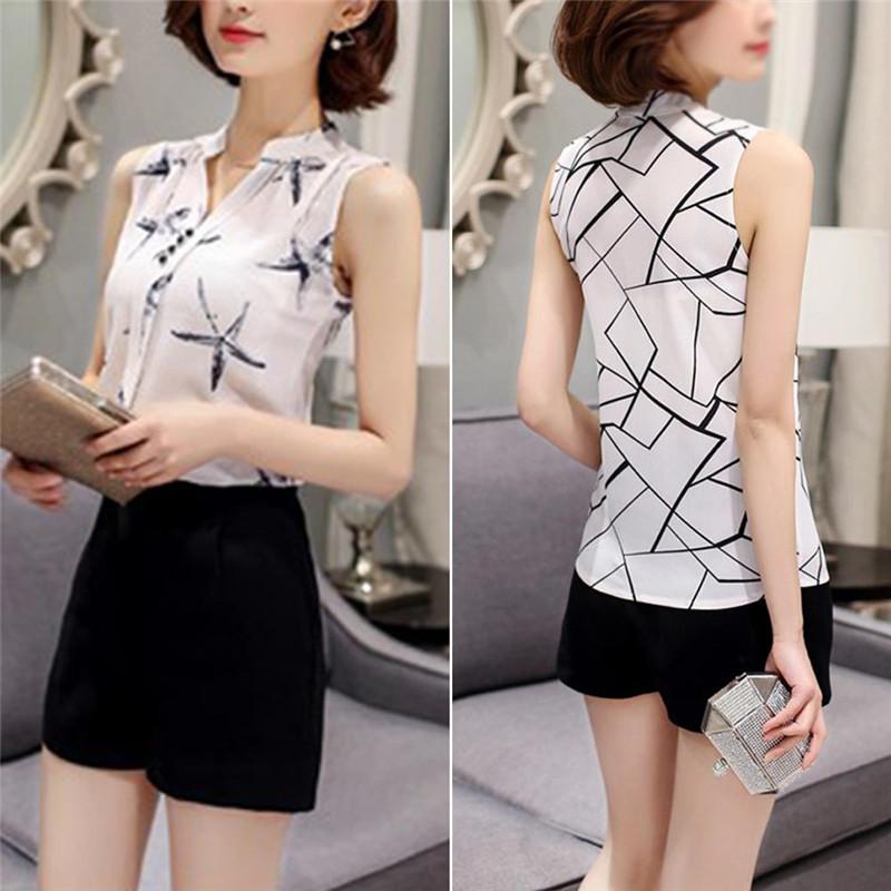 HTB1wj1ZQVXXXXXvXVXXq6xXFXXX1 - Sleeveless Chiffon Office Shirts Blusa Womens 3XL Plus Size Tunic