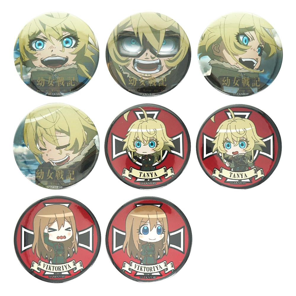 Saga Of Tanya The Evil Anime Badge Tanya Von Degurechaff Viktoriya Cute Metal Badge