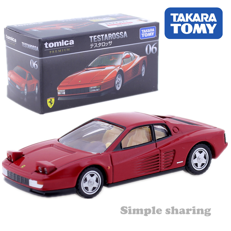 Takara Tomy Tomica Premium 06 Testarossa Model Kit 1:61Diecast Miniature Car Toy Collectibles Hot Pop Baby Toys Funny Magic Doll