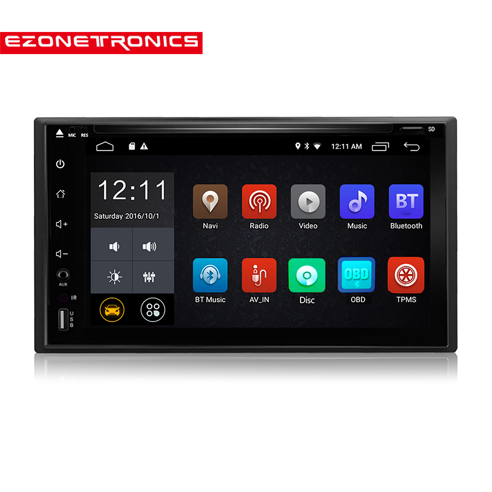 "2 Din Android 6.0 DVD CD Car Radio Stereo 6.2"" Car GPS Navigation Wifi Bluetooth USB Radio Audio Player subwoofer USB SD Player"