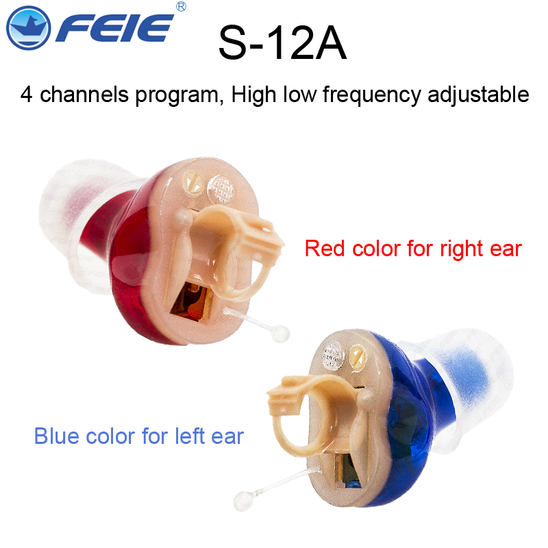 Feie Mini CIC Invisible Hearing Aids in Ear Digital Hearing Deaf Hearing Aid  for he Elderly S-12A 2016 new products cheap china feie brand invisible digital hearing aid audiofone amplificador de surdez s 10a audifono with a10
