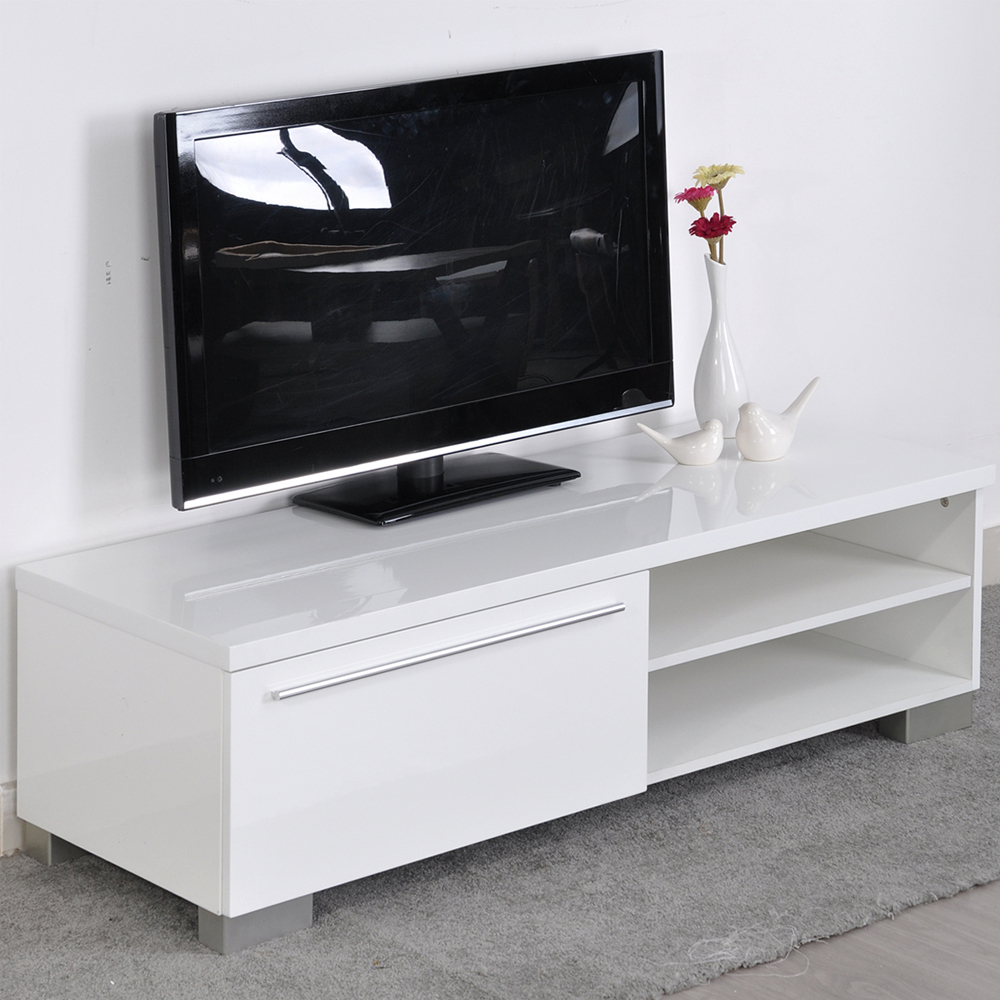 Aingoo modern tv stand white living room furniture modern for Modern white living room furniture