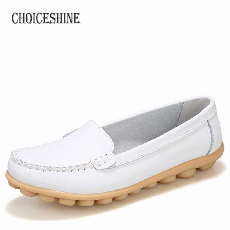 4] Hosteven Women Shoes Genuine Leather Sneakers Casual Women Loafers Slip  On Woman Flats Shoe Low Heel Moccasins Footwear-in Women's Flats from Shoes  - Cigarette Coils Aspire