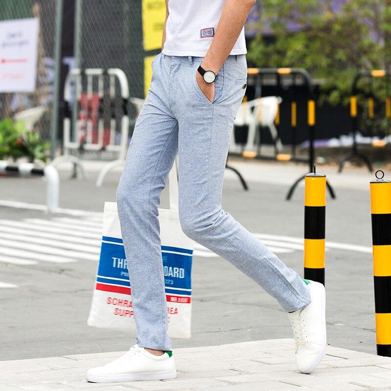 Casual Cotton Linen Trousers Male Thick Fleece Harem Pants Men Summer Pants Size Plus 28-38