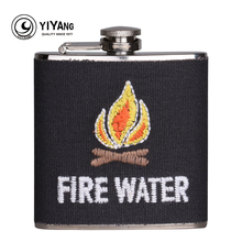 Portable stainless steel 6 oz Fire Water Cotton wrapped Hip Flask Liquor Alcohol Drink Whiskey Wine flagon Pot Bottle Drinkware