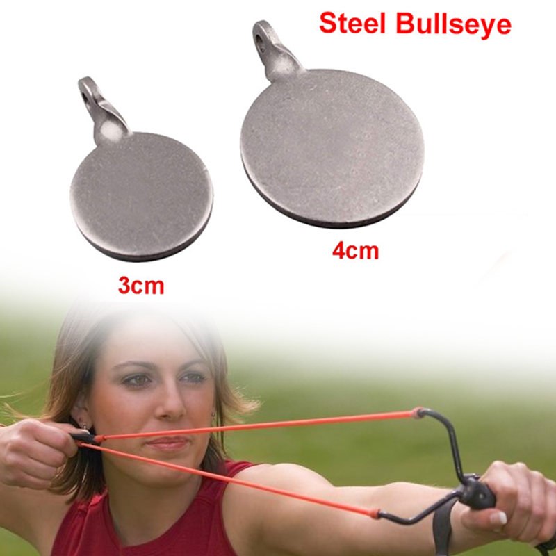3/4cm Stailess Steel Shooting Target Durable Metal Catapult Small Target Hunting Bow Metal Practical Hanging Target Outdoor Game