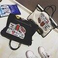 Bags shoulder bag badge handbag personalized big bag women's handbag messenger bag