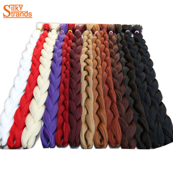 Silky Strands 82Inch Synthetic Jumbo Braids hair 165g/Pack Kanekalon Blonde Crochet False Braiding Hair Extensions