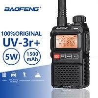 Baofeng UV 3R+ High Quality Mini Walkie Talkie Handheld VHF UHF Two Way Radio Scanner Hf Transceiver Ham Radio Station Ecouteur