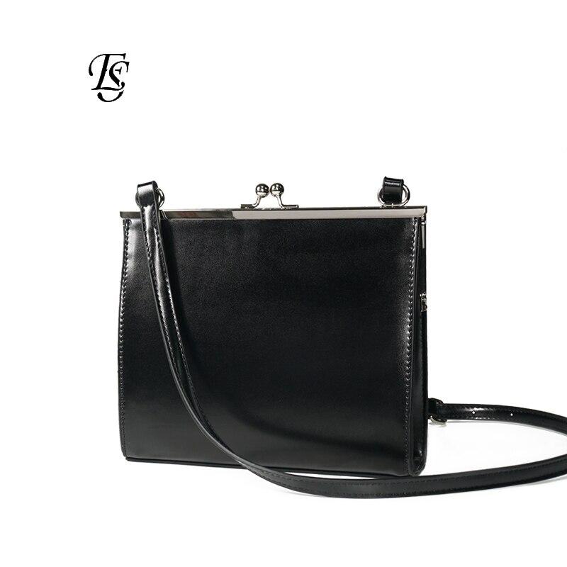 E SHUNFA brand 2019 simple buckle female shoulder bag solid color wild shoulder bag woman black