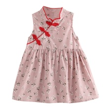 Childrens Clothing Summer Baby Girls Floral Dresses Fashion Chinese Cheongsam