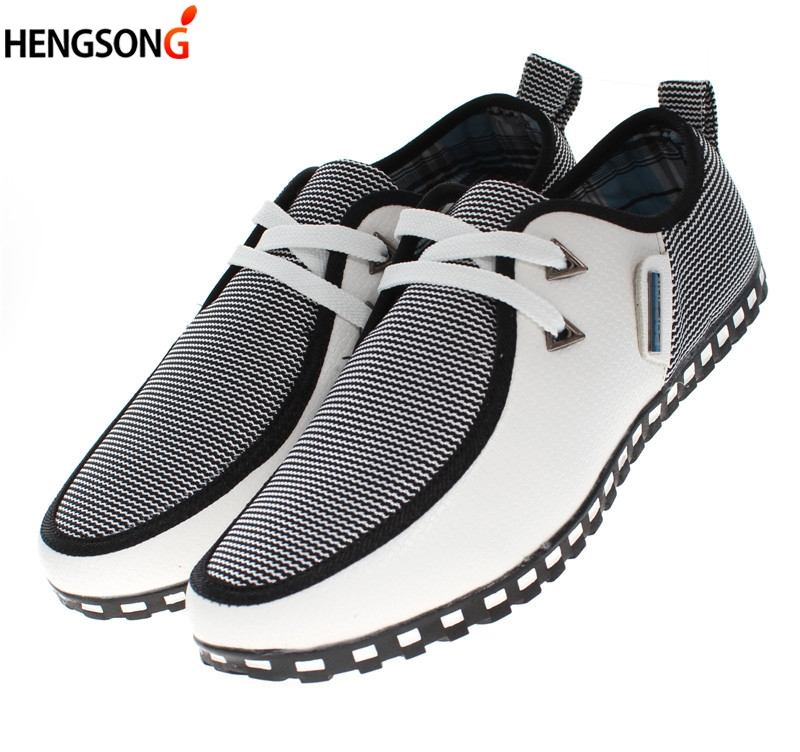 2018 Spring Men's Leather Casual Shoes Wave Striped Patchwork Sequined Peas Shoes Men Soft PU Lace-Up Flat Shoes British Style aives british style pu leather shoes men s casual flat office soft driving shoes fashion trend lace up men shoes classic loafers