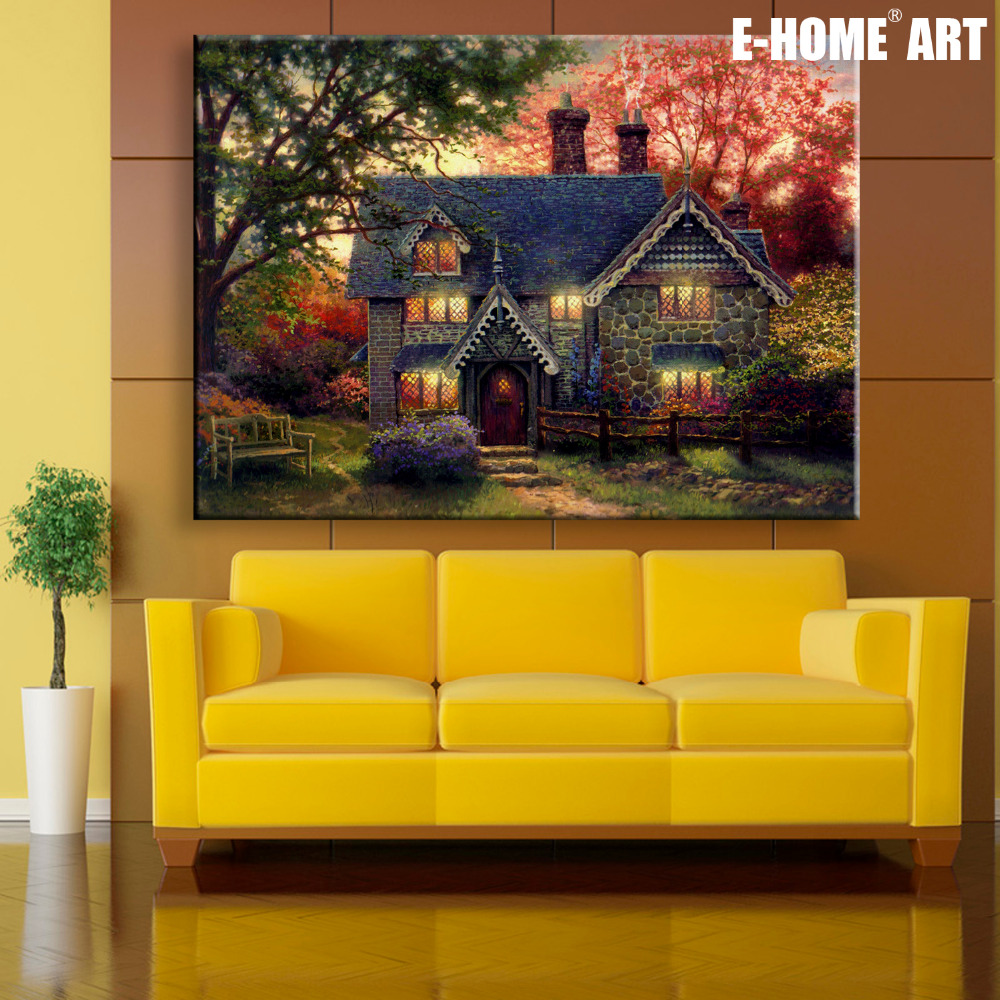 Stretched Canvas Prints House in The Woods LED Interstellar Print ...