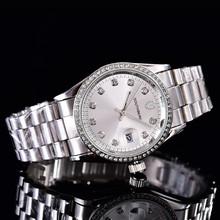 SOUTHBERG sukienka WomenWatches stylowe kryształki górskie zegarek kwarcowy Lady strona bransoletka bransoletka Relogio zegarek na co dzień tanie tanio Kwarcowe Zegarki Na Rękę 36mm Okrągły 18mm Składane zapięcie z bezpieczeństwem Odporny na wstrząsy Kompletna kalendarz