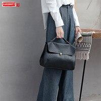 Ретро кожаная женская сумка мессенджер новая сумка пассажира дикий женский замок сумки Наплечная Сумка Британский портативный портфель