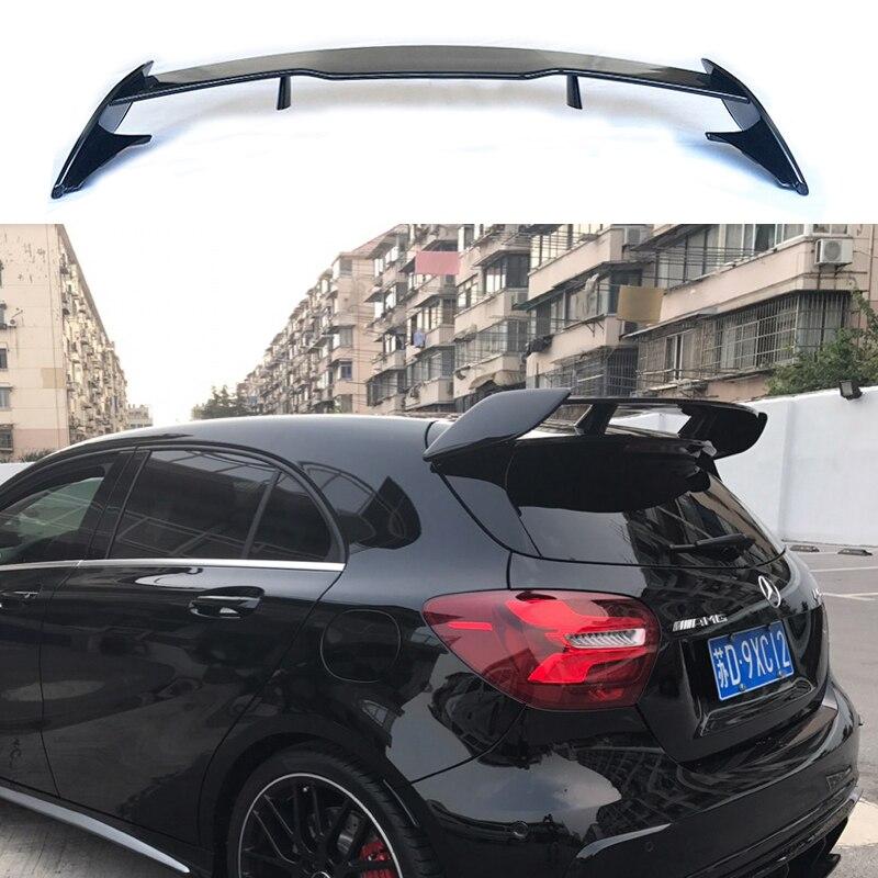 Mercedes Benz için bir sınıf W176 A160 A180 A200 A250 A45 AMG 5-door Hatchback 2013-2018 ABS plastik arka Spoiler kanat bagaj kapağı