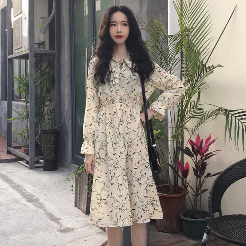 934b06c1a51 Detail Feedback Questions about Mihoshop Ulzzang Korean Korea Women Fashion  Clothing Summer Sweet Long Sleeve Chiffon Cute Preppy Dress Chic on ...