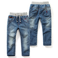 LittleSpring kids clothes thicken boys jeans with velvet drawstring jeans kids blue denim trousers pantalon garcon jeans 2-9Y