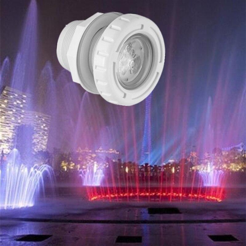 Luz subacuática piscina de agua 6 W luz fuente Led de masaje Spa piscina luces Rgb impermeable al aire libre 12 V 24 V flotante de fiesta Spa
