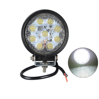 Led car work light 12v Spot beam 12v 24v 27w led work light Offroad Driving Light 2PCS 4 inch led light bar