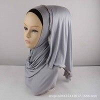 32 renkler Müslüman Başörtüsü Eşarp Yumuşak Pamuk Uzun eşarp fermuarlı sınır başörtüsü İslam eşarp