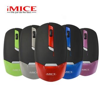 IMice Ultra-sottile Mouse Wireless Mouse Del Computer Mini Mouse 2.4G Ricevitore Del Mouse Design Ergonomico Del Computer Portatile Desktop di Risparmio Energetico
