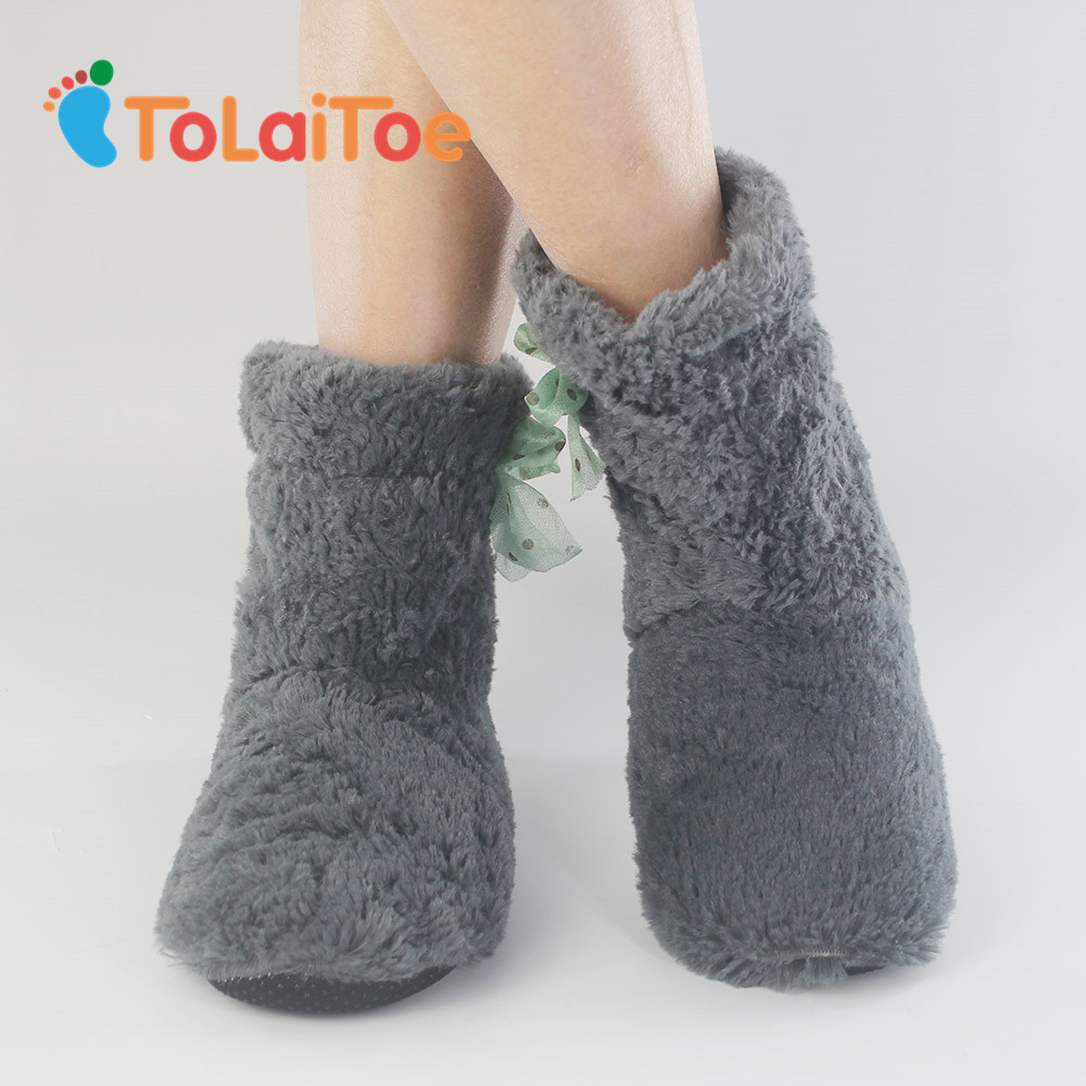ToLaiToe Free Shipping Home Soft Plush Home Shoes Slippers Coral Fleece Indoor Floor Sock Indoor Slipper Winter Foot Warmer Bes tolaitoe autumn