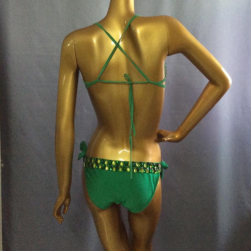 Hand Beaded Belly Dance and Samba Costume one-piece garment