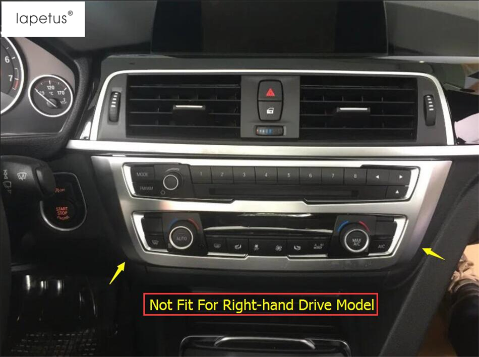 Accessories For BMW 3 Series F30 316i 320i 328i 2013 2017 Matte Style Air Conditioning Panel Stickers Molding Cover Kit Trim